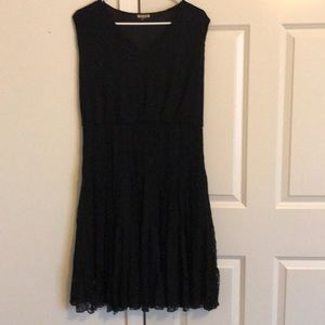 Haani black lace sleeveless dress XL